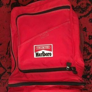 Marlboro Red Unlimited Duffle Backpack Vintage BAG